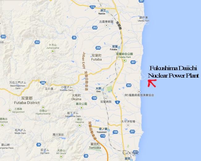 map of daiichi okuma futaba