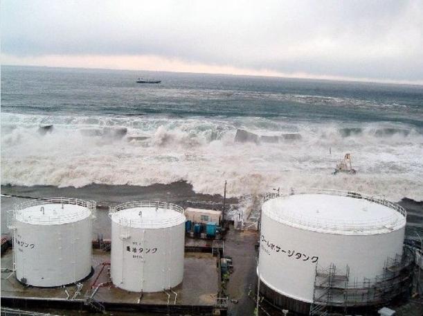 Fukushima Daiichi hit by tsunami March 11, 2011