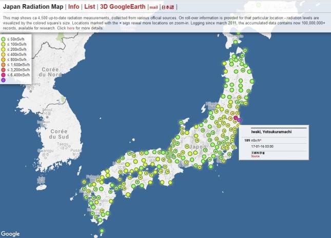 Japan Radiation Map Interactive Fukushima Watchdogs - Japan map fukushima