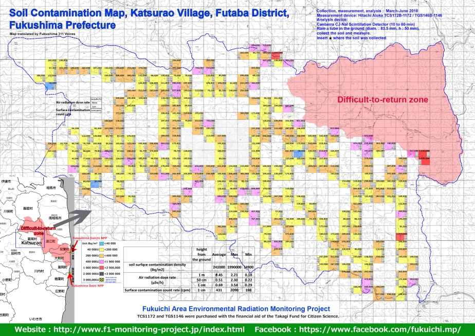 Katsurao Village contamination map