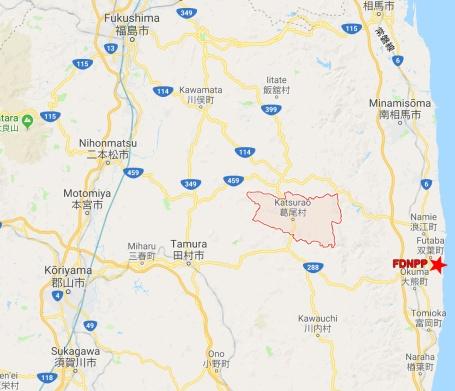katsurao village contamination map fukushima 311 watchdogs